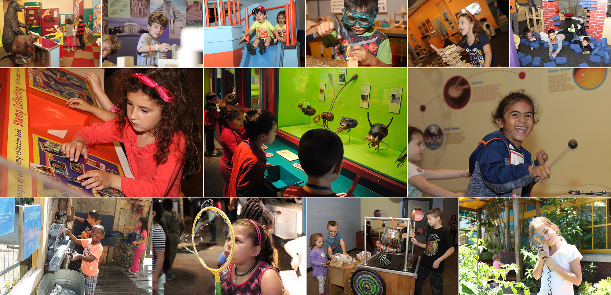 Long Island Children's Museum kid montage