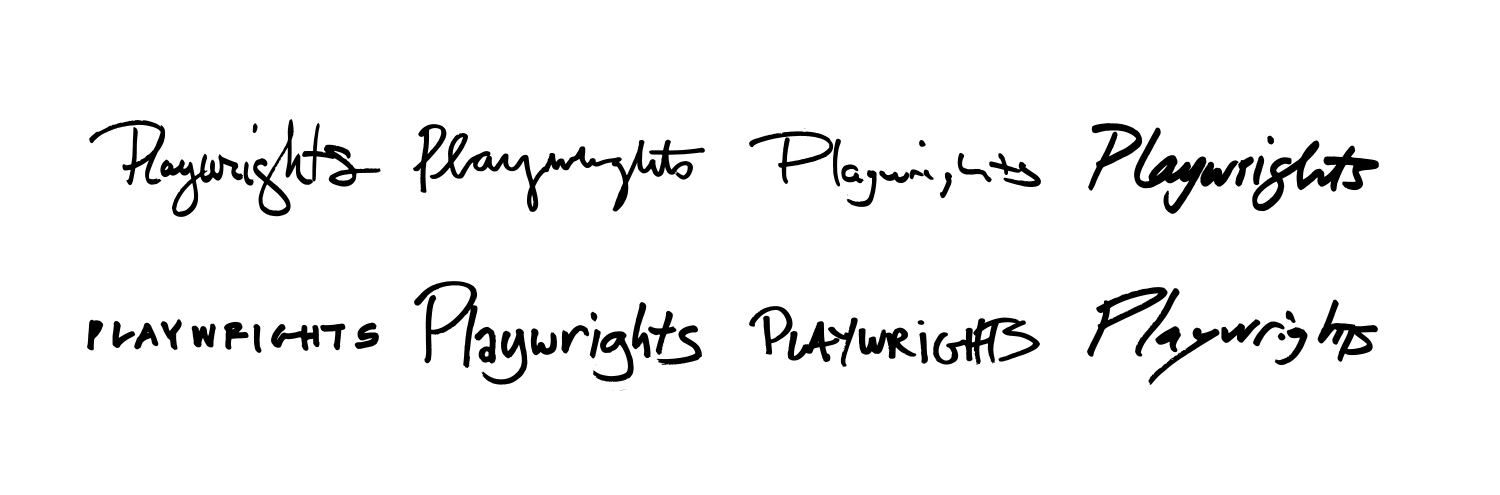 Playwrights logos